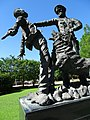 Sculpture of Police Siccing Dog on Protester - Kelly Ingram Park - Birmingham - Alabama - USA (34266832751).jpg