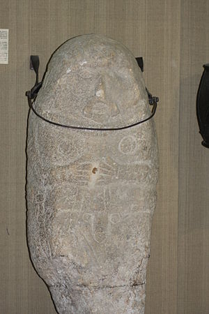 Scythian art - Granite kurgan stela, Romania