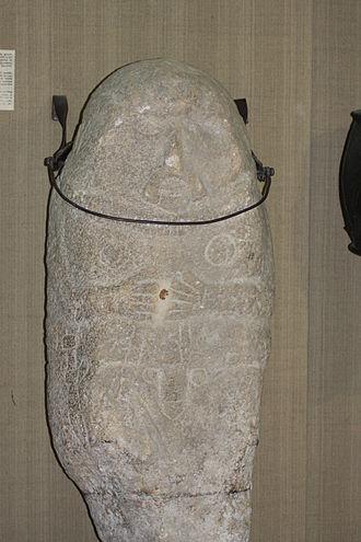 Scythian art - Granite kurgan stela, Romania