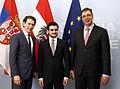 Sebastian Kurz, Lazar Krstić and Aleksandar Vučić June 2014.jpg