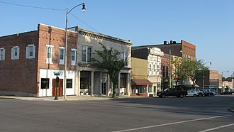 Greenville, Illinois - Second Street in Downtown Greenville