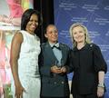 Secretary Clinton and First Lady Obama With 2012 IWOC Award Winner Maj. Pricilla de Oliveira Azevedo of Brazil.png