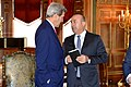 Secretary Kerry Chats With Turkish Foreign Minister Cavusoglu Before His Meeting With Turkish President Erdogan in Washington (26113360666).jpg
