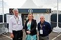 Secretary of State for Northern Ireland, Karen Bradley, attends Royal Portrush for the 2019 Open Championship (48345195931).jpg
