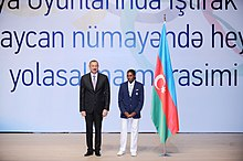 Seeing-off ceremony for Azerbaijani sportsmen to represent the country at the London 2012 Summer Olympic Games 2.jpg
