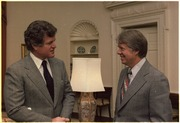 Senator Edward Kennedy meets with Jimmy Carter - NARA - 177025