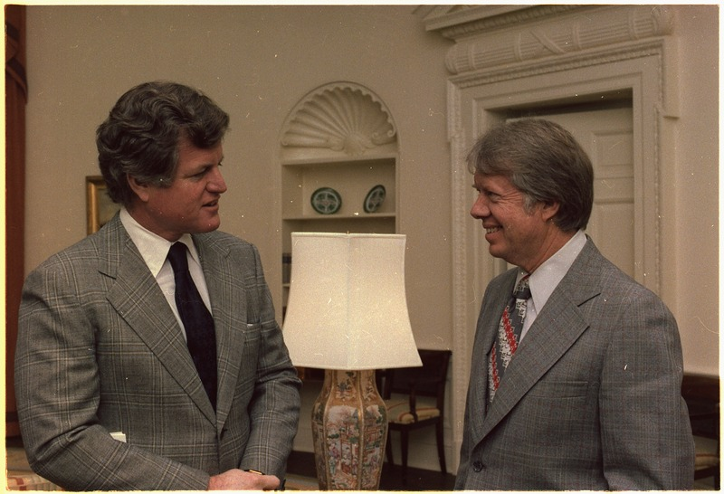 Senator Edward Kennedy meets with Jimmy Carter - NARA - 177025.tif