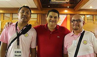 TG Guingona - Guingona (center) at Kabankalan, Negros Occidental, July 2015