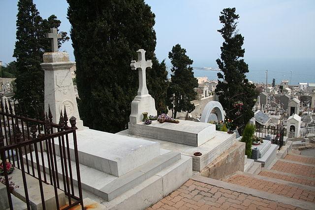 Надгробие Поля Валери на кладбище у моря в Сете