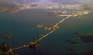 Great Seto Bridge - Great Seto Bridge from Honshū (left) via the islands of Hitsuishijima and Yoshima to Shikoku