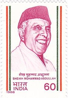 Sheikh Abdullah Kashmiri politician