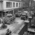 Sherman tanks and transport of 8th Armoured Brigade moving through Kevelaer, Germany, 4 March 1945. B15147.jpg