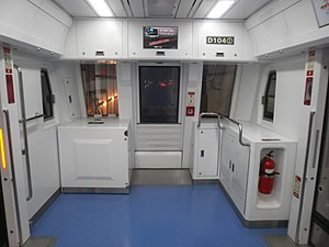 Shinbundang Line - The front of the subway car is open for viewing thanks to driverless operation.