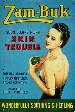 "Showcard advertising ""Zam-Buk soon clears away skin trouble"". Wellcome L0030507"