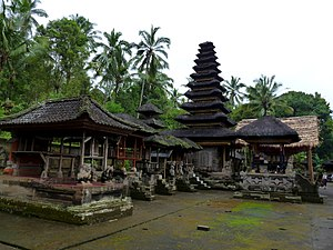 Pura Kehen - The innermost sanctum (jero) of Pura Kehen featuring the 11-tiers meru tower dedicated to the main god and patron of the temple.