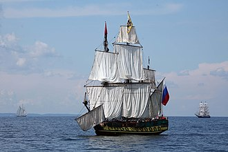 Baltic Fleet - Modern replica of the Fleet's first vessel, the 24-gun three-masted frigate Shtandart