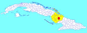 Sibanicú - Image: Sibanicú (Cuban municipal map)