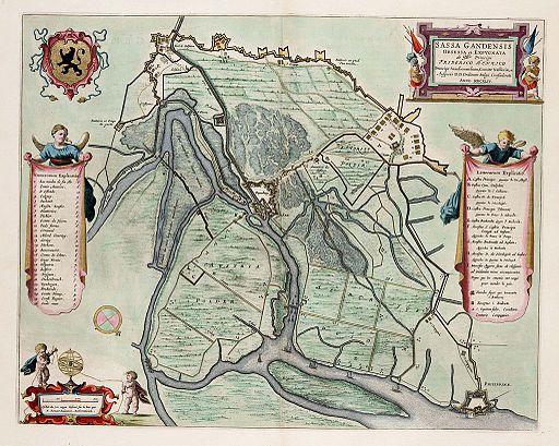 Siege of Sas van Gent by Frederick Henry in 1644 - Sassa Gandensis Obsessa et Expugnata (N.Renaut, 1649)