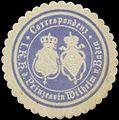 Siegelmarke Correspondenz I.K.H. der Prinzessin Wilhelm von Baden W0356336.jpg