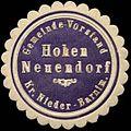 Siegelmarke Gemeinde-Vorstand Hohen Neuendorf - Kreis Nieder-Barnim W0312930.jpg
