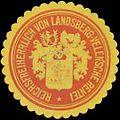Siegelmarke Reichsfreiherrlich von Landsberg-Velensche Rentei W0353888.jpg