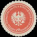 Siegelmarke Zentral-Verwaltung der Stk. B. König und Königin Viktoria Luise in Zabrze W0348937.jpg