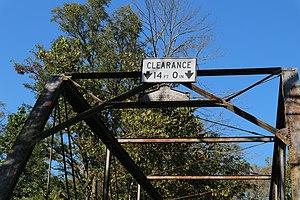 Gilbert Bridge - Image: Sign on Gilbert Bridge