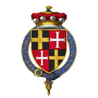 William Willoughby, 5th Baron Willoughby de Eresby - Arms of Sir William de Willoughby, 5th Baron Willoughby d'Eresby, KG.
