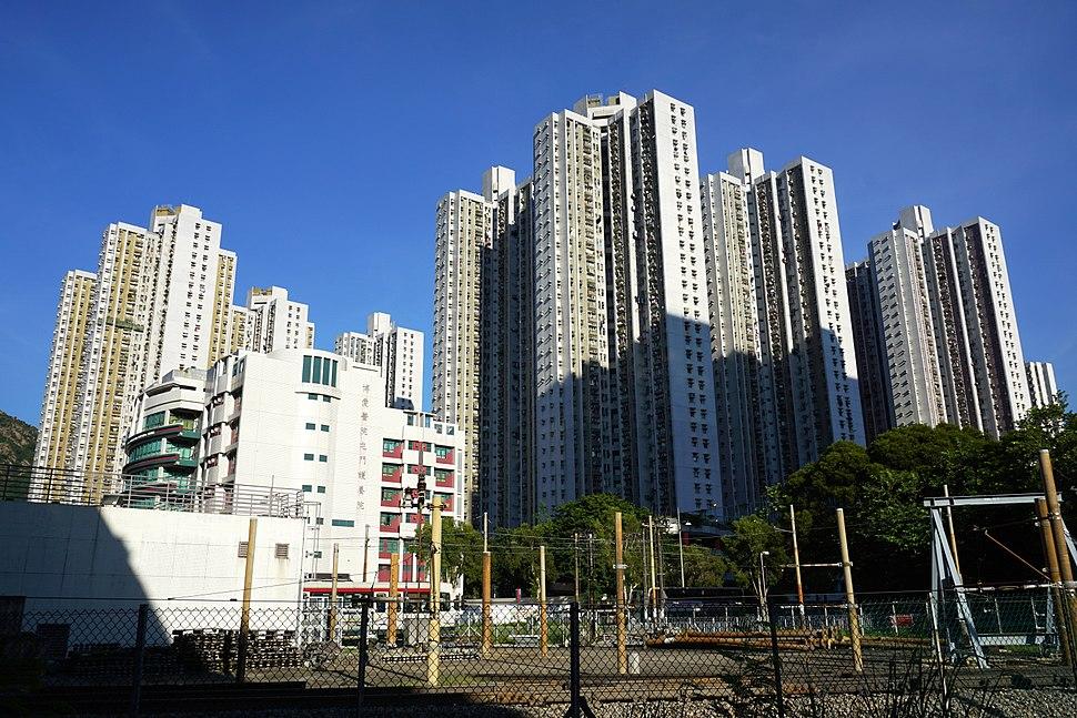 Siu Lun Court (deep blue sky)