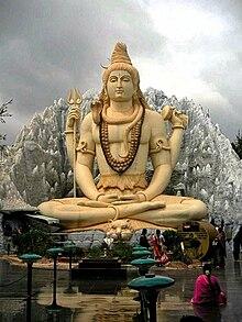 Kip šive koji peformira meditaciju joge