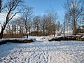 Snö i Eriksberg, Göteborg Jan 2012, Liten mur - panoramio.jpg