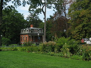 Sailors' Snug Harbor - One of the cottages among the cottage row in Snug Harbor Cultural Center