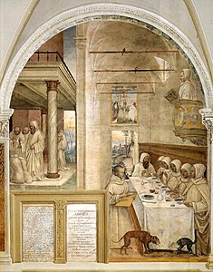 Sodoma - Life of St Benedict, Scene 31 - Benedict Feeds the Monk - WGA21581.jpg