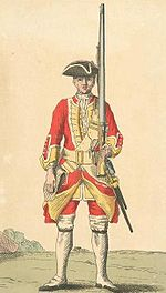 Soldier of the 30th Foot in 1742