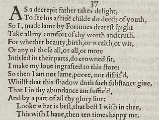 Sonnet 37 poem by William Shakespeare