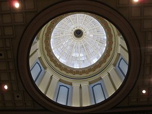 South Carolina State House - View of inside the dome inside the main lobby