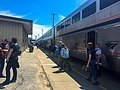 Southwest Chief at Fort Madison station, May 2016 (161317707).jpg