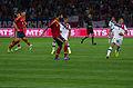 Spain - Chile - 10-09-2013 - Geneva - Javi Garcia, Raul Albiol, Arturo Vidal and Alexis Sanchez.jpg