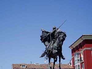 "In Burgos (Spain), the statue of ""the Cid..."
