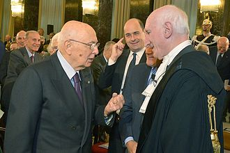 Court of Audit (Italy) - President Napolitano with Raffaele Squitieri, President of the Court of Audit.