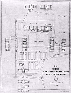 St. Maixent Replacement Barracks - Image: St. Maixent Replacement Barracks Plan