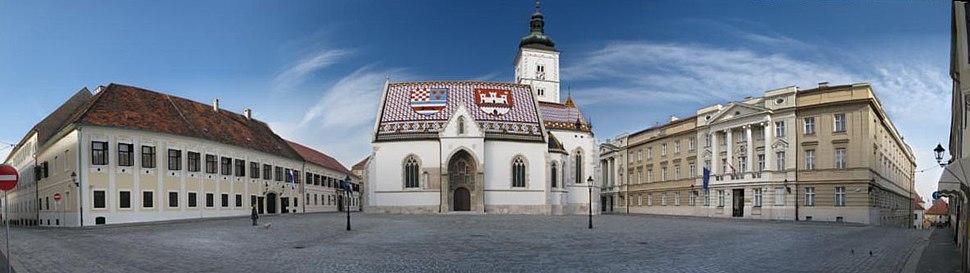 St. Marks Sq Zagreb pano
