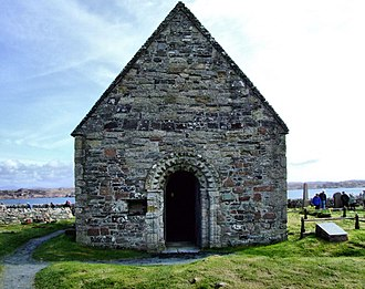 Óláfr Guðrøðarson (died 1153) - St Oran's Chapel, the oldest intact building on Iona, may have been built by Óláfr, his family, Somairle mac Gilla Brigte, or the latter's family.