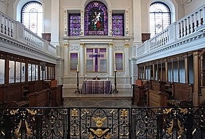 George Dance the Elder - Image: St Botolph without Aldgate, London EC3 Chancel geograph.org.uk 1229915