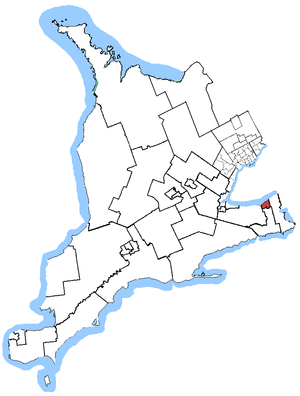 St. Catharines (electoral district) - St. Catharines in relation to other southern Ontario electoral districts (2003 boundaries)