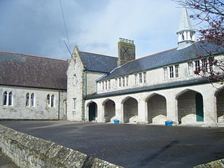 St Georges Centre community centre, formerly a school, in Easton, Dorset, UK