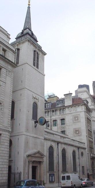 Coleman Street - St Margaret Lothbury church.