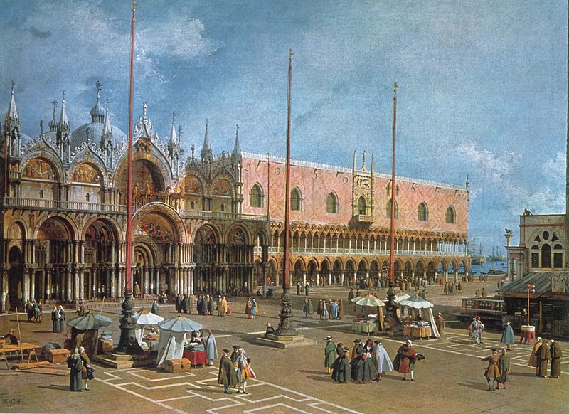 """Venice - The Square of St. Mark"", Antonio Canaletto"