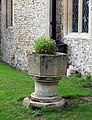 St Mary, Reed, Herts - Redundant font - geograph.org.uk - 370490.jpg