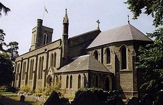 Addlestone Human settlement in England